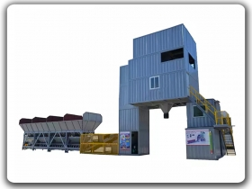 China HZSL120 Free foundation container type concrete batching plant Manufacturer,Supplier