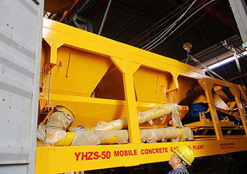 50m3/h Mobile Concrete Batching Plant Export To Philippines